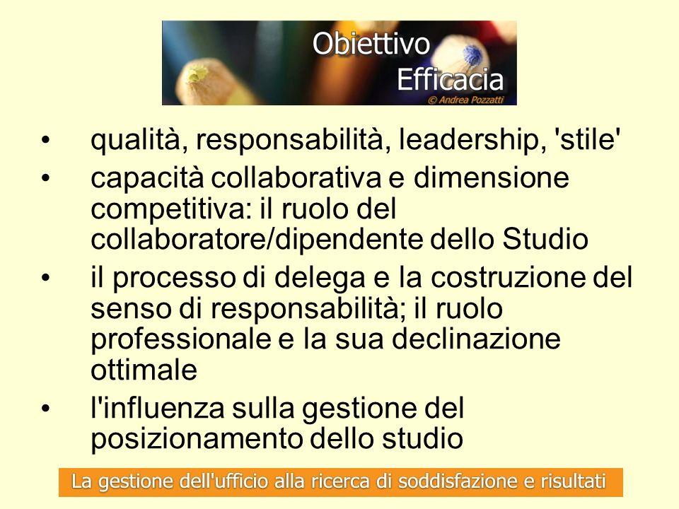 qualità, responsabilità, leadership, stile