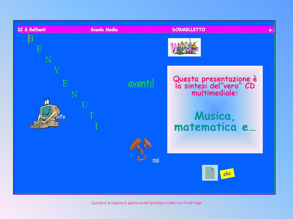 Questa presentazione è la sintesi del vero CD multimediale: