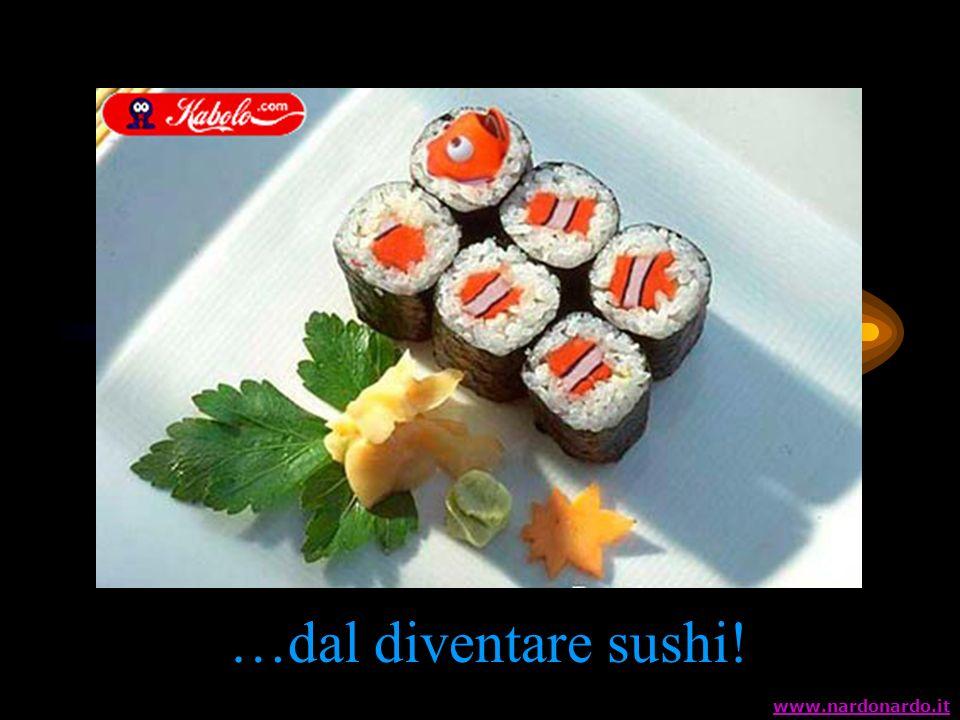 …dal diventare sushi! www.nardonardo.it