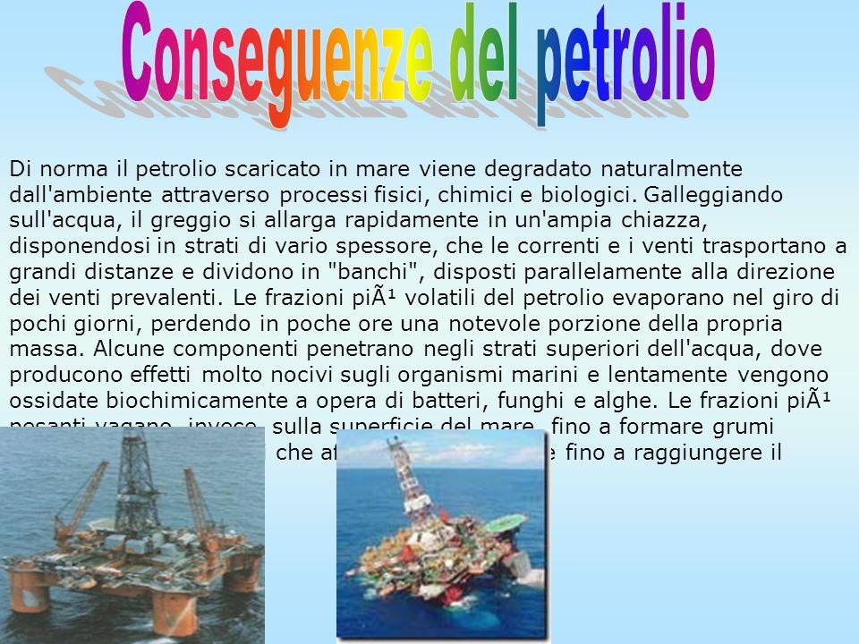 Conseguenze del petrolio