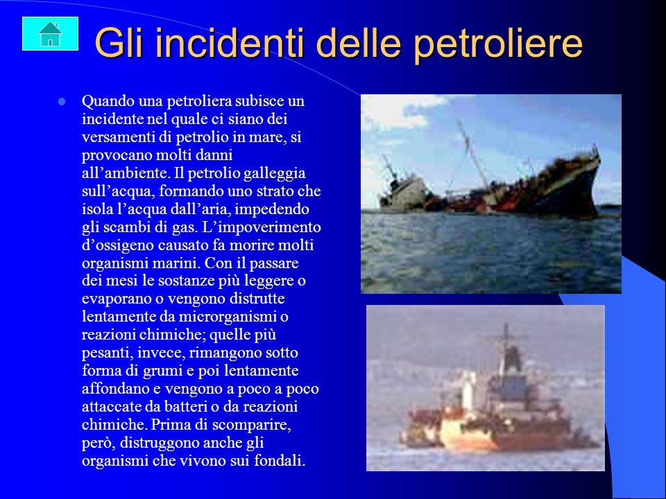 Gli incidenti delle petroliere