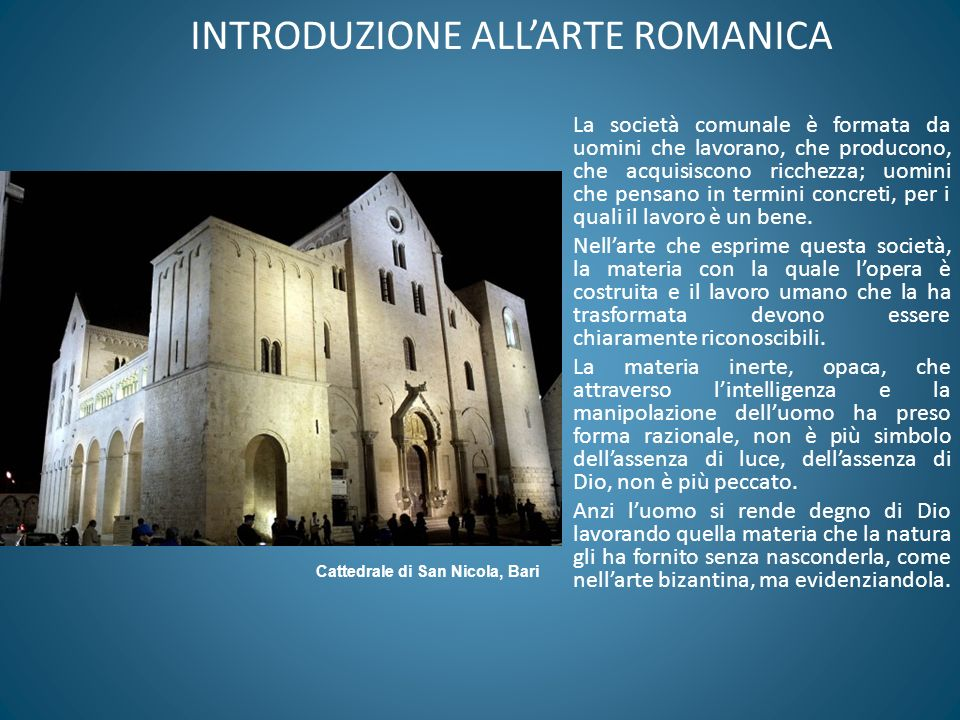 INTRODUZIONE ALL'ARTE ROMANICA