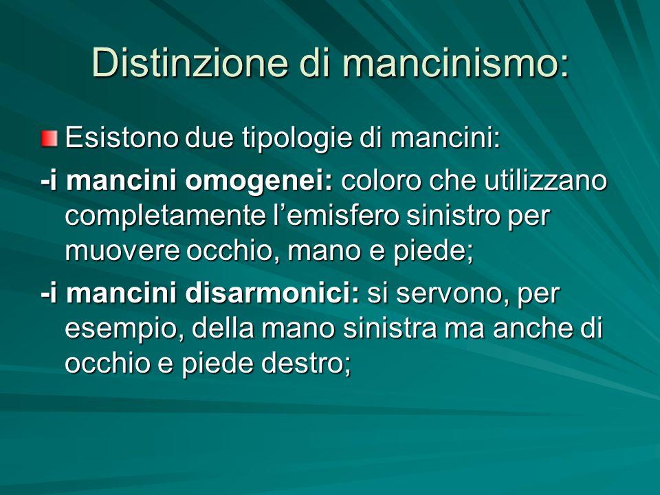 Distinzione di mancinismo: