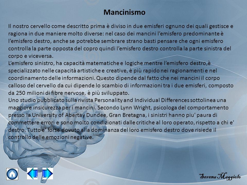 Mancinismo Serena Maggiolo