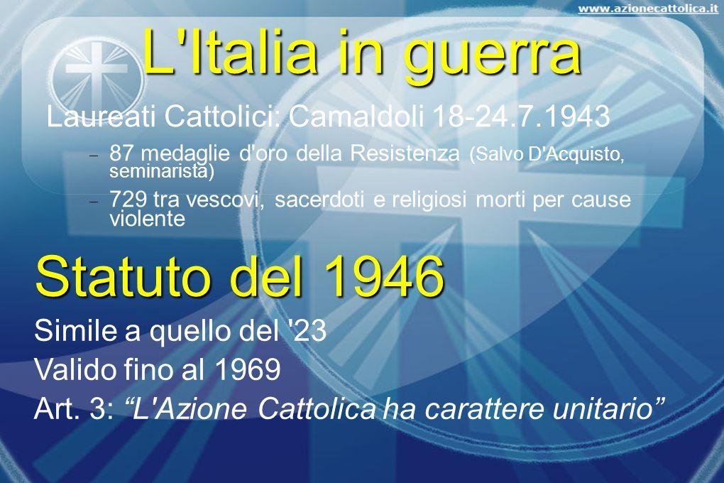 L Italia in guerra Statuto del 1946