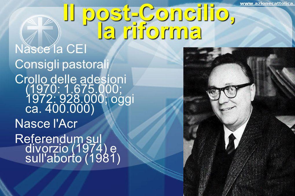 Il post-Concilio, la riforma