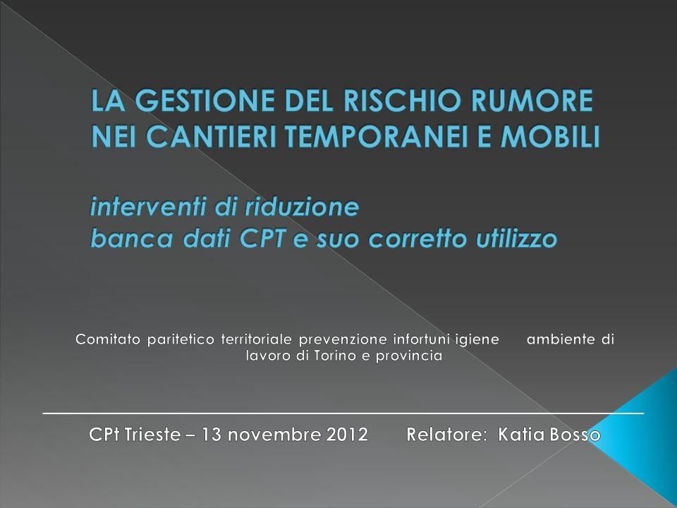 CPt Trieste – 13 novembre 2012 Relatore: Katia Bosso