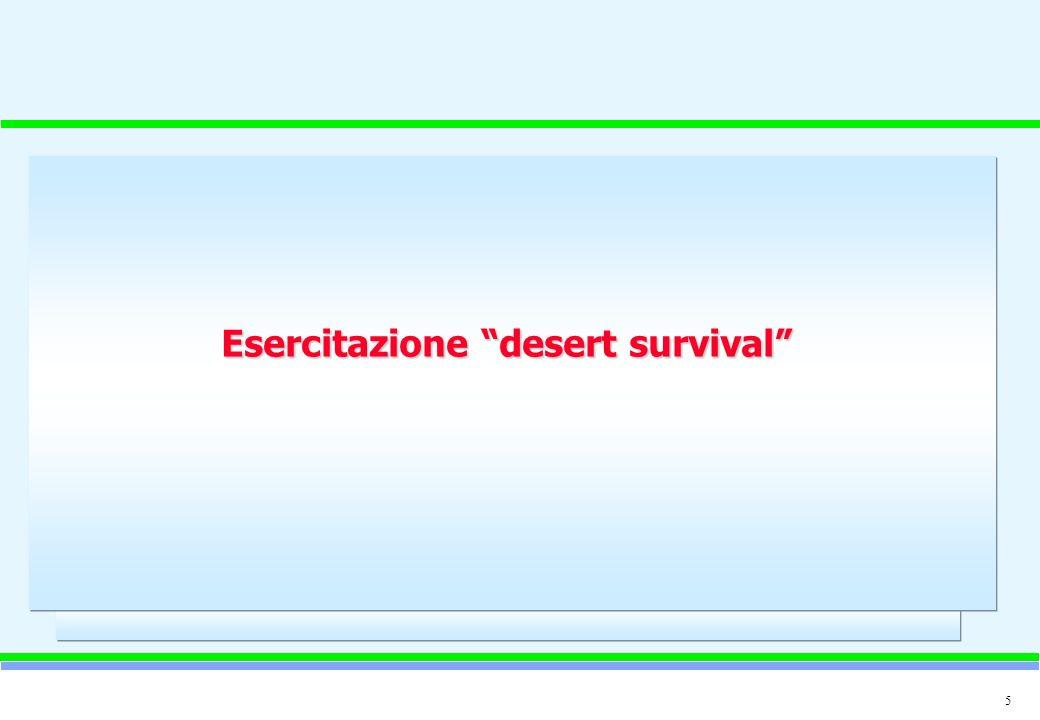 Esercitazione desert survival