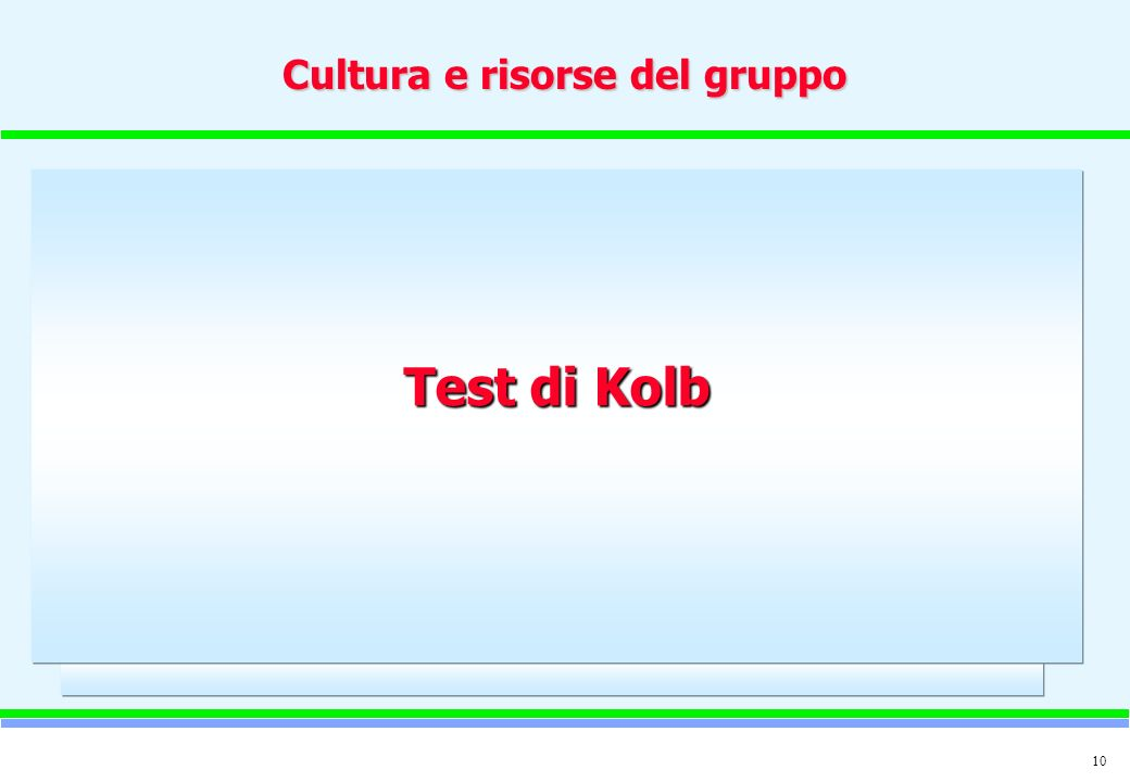 Cultura e risorse del gruppo