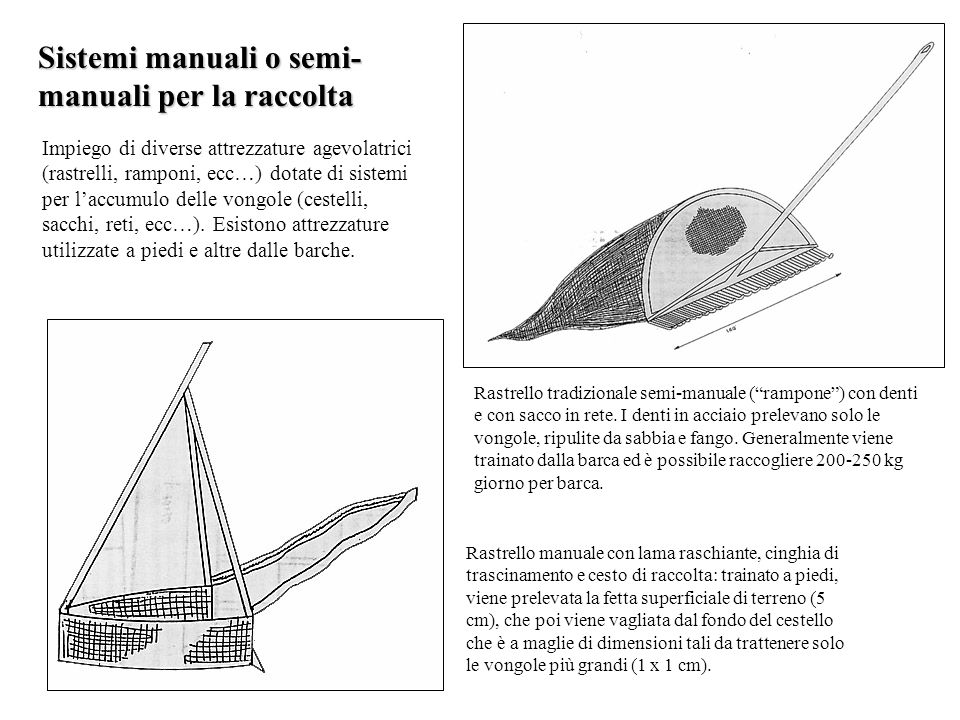 Sistemi manuali o semi-manuali per la raccolta