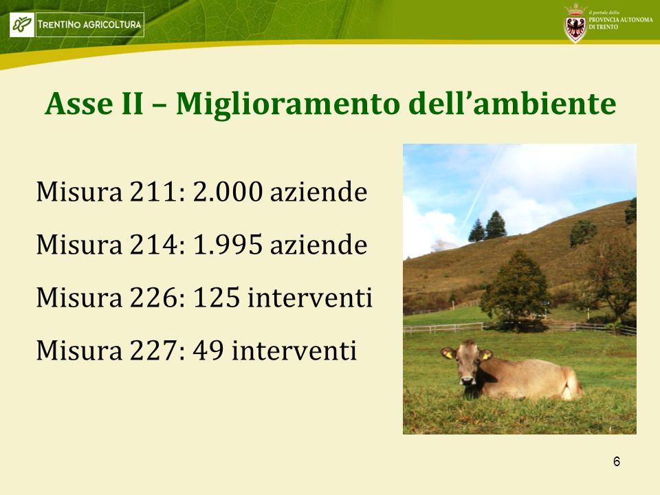 Asse II – Miglioramento dell'ambiente