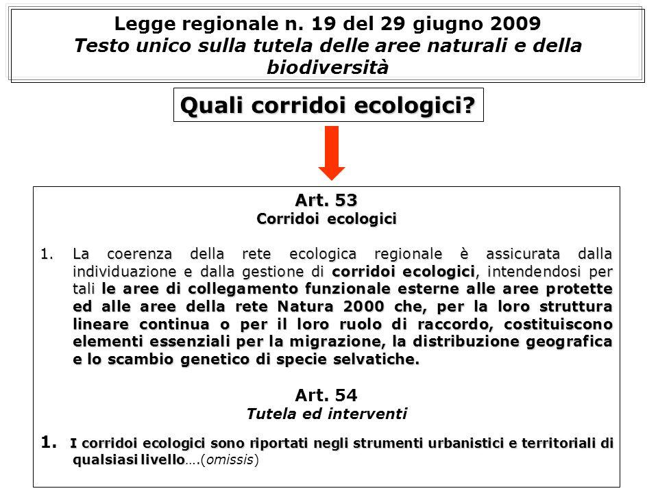 Quali corridoi ecologici