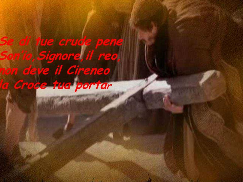 Se di tue crude pene Son'io,Signore,il reo, non deve il Cireneo la Croce tua portar