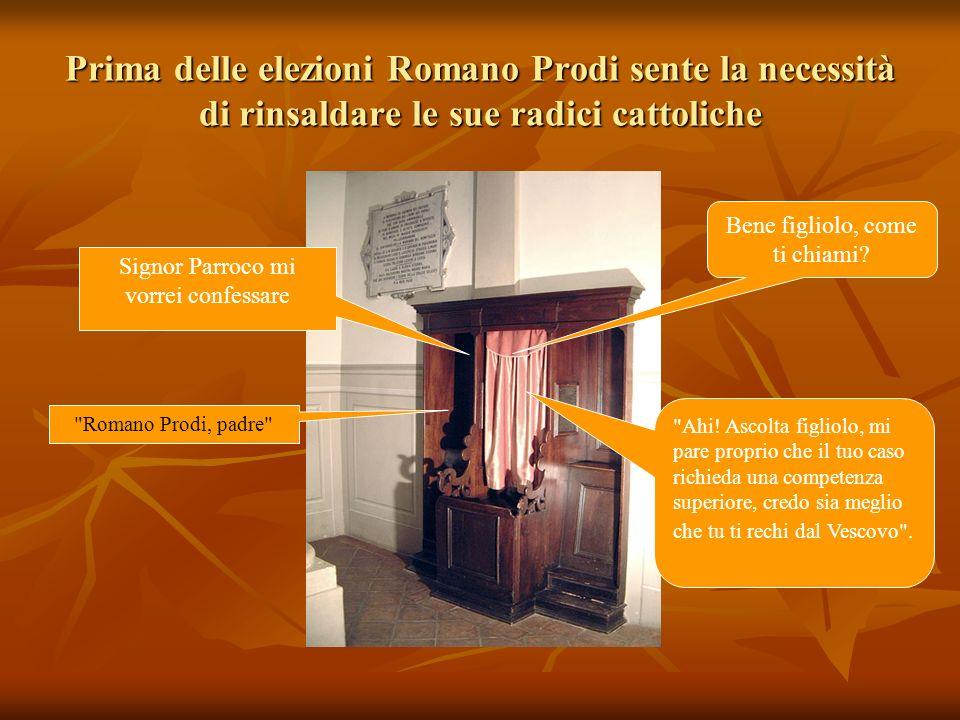 Prima delle elezioni Romano Prodi sente la necessità di rinsaldare le sue radici cattoliche