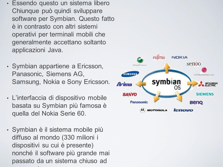 Essendo questo un sistema libero Chiunque può quindi sviluppare software per Symbian. Questo fatto è in contrasto con altri sistemi operativi per terminali mobili che generalmente accettano soltanto applicazioni Java.