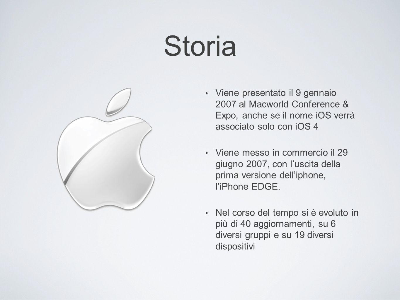 Storia Viene presentato il 9 gennaio 2007 al Macworld Conference & Expo, anche se il nome iOS verrà associato solo con iOS 4.