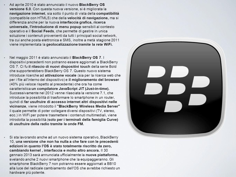 Ad aprile 2010 è stato annunciato il nuovo BlackBerry OS versione 6