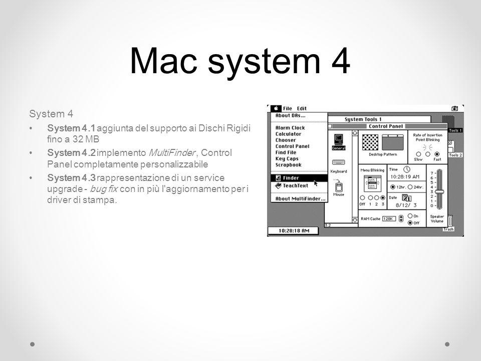 Mac system 4 System 4. System 4.1 aggiunta del supporto ai Dischi Rigidi fino a 32 MB.