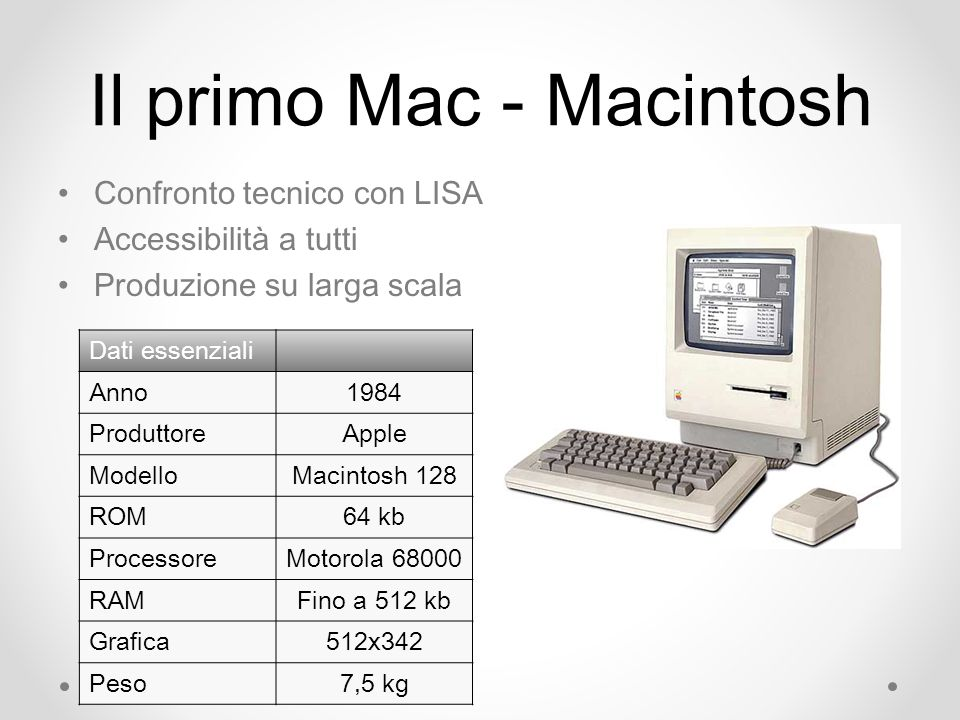 Il primo Mac - Macintosh
