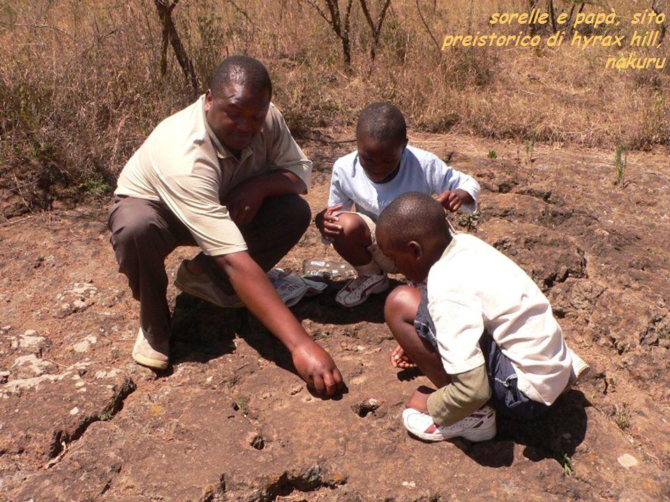 sorelle e papà, sito preistorico di hyrax hill, nakuru