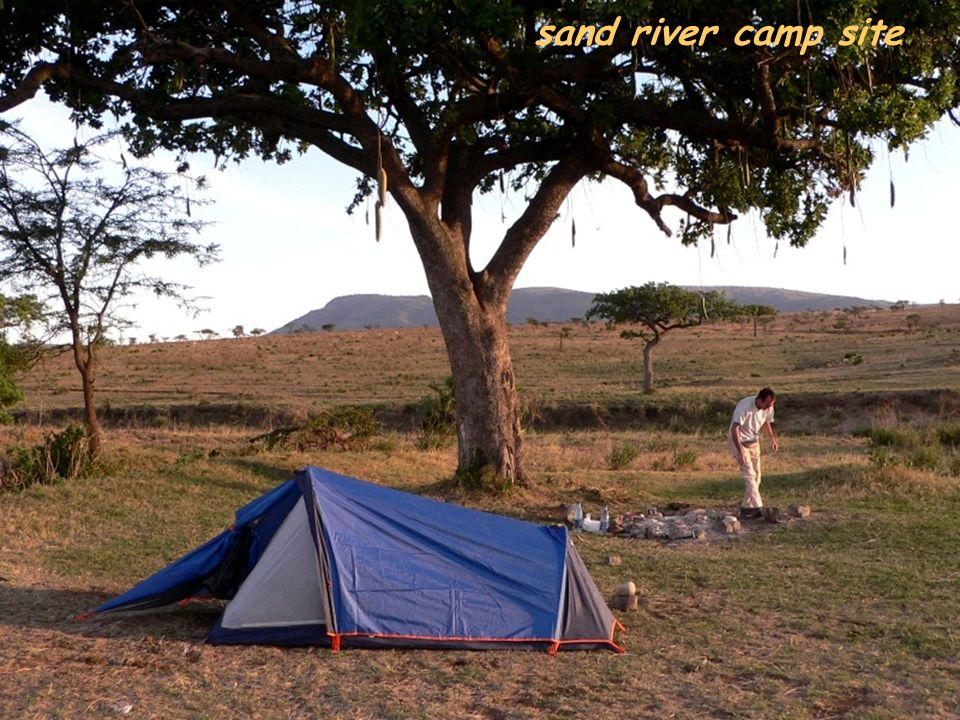 sand river camp site