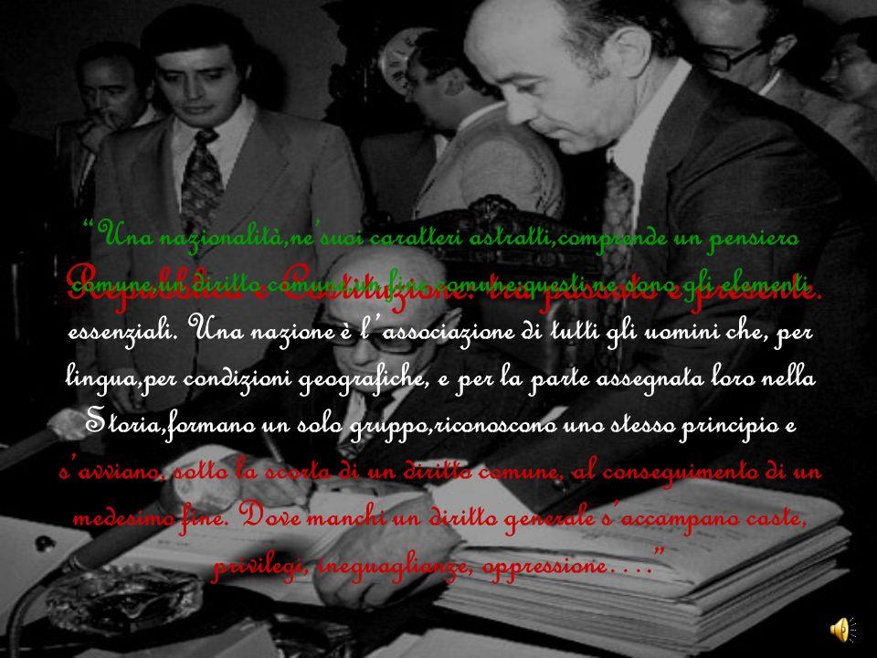 Repubblica e Costituzione: tra passato e presente.