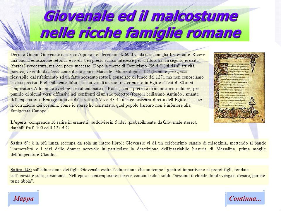 Giovenale ed il malcostume nelle ricche famiglie romane