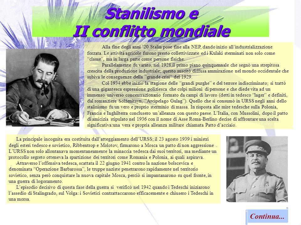 Stanilismo e II conflitto mondiale