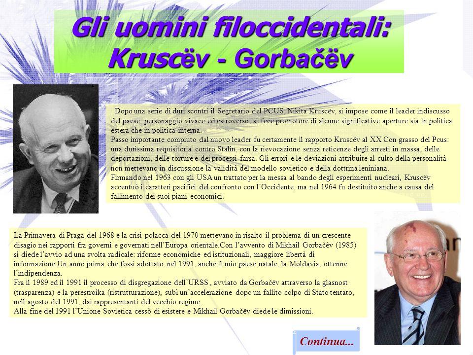 Gli uomini filoccidentali: Kruscëv - Gorbačëv