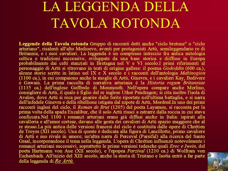 LA LEGGENDA DELLA TAVOLA ROTONDA