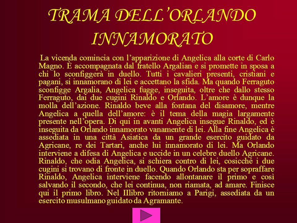 TRAMA DELL'ORLANDO INNAMORATO