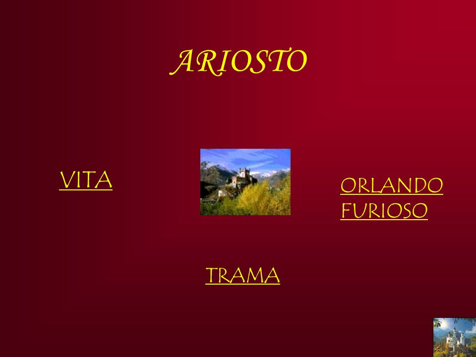 ARIOSTO VITA ORLANDO FURIOSO TRAMA