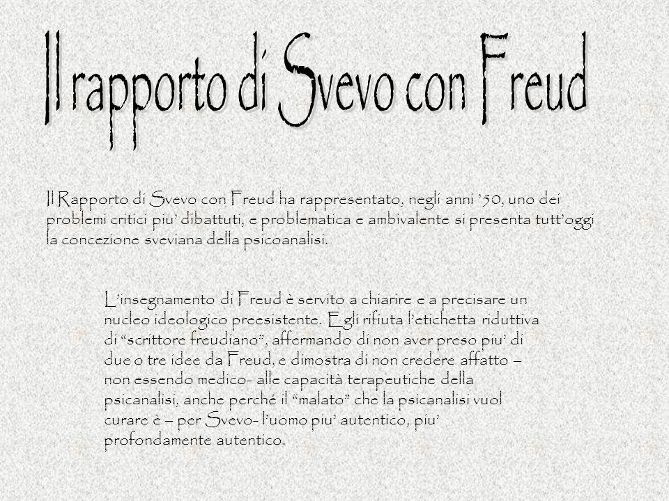 Il rapporto di Svevo con Freud