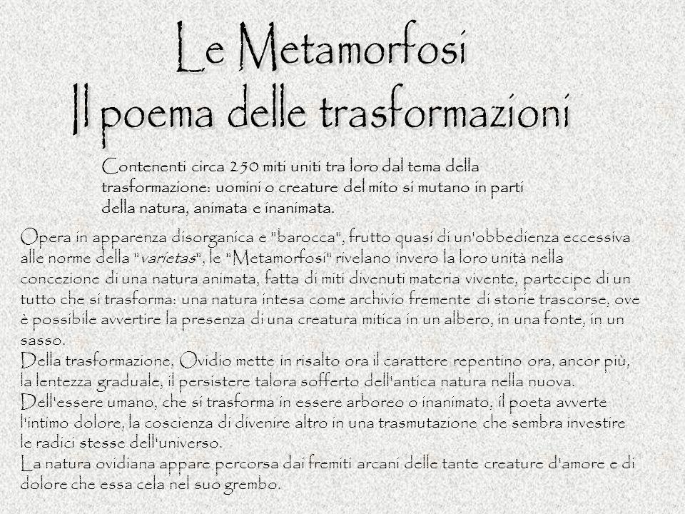 Il poema delle trasformazioni