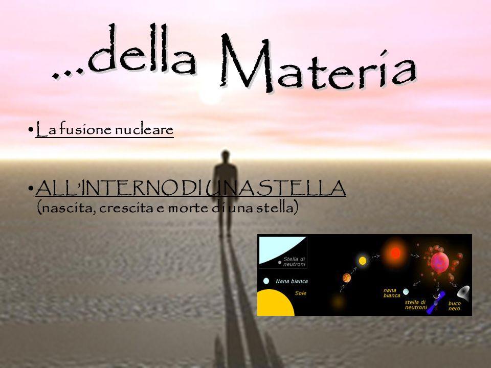 ...della Materia La fusione nucleare ALL'INTERNO DI UNA STELLA
