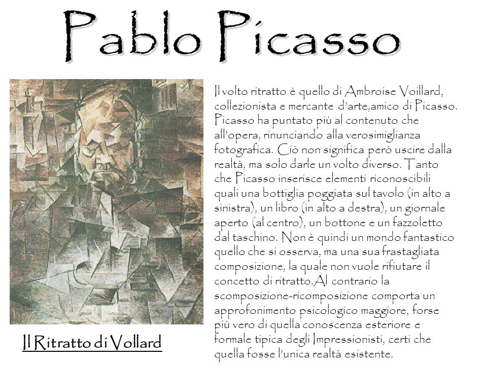 Pablo Picasso Il Ritratto di Vollard