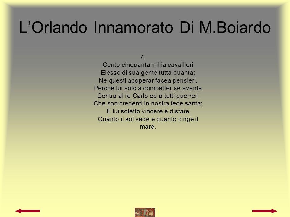 L'Orlando Innamorato Di M.Boiardo