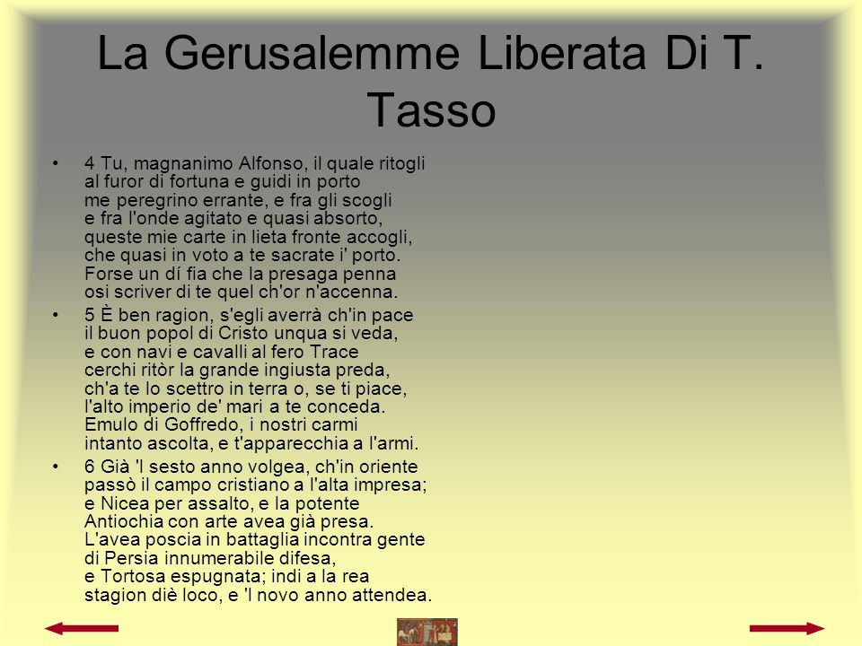 La Gerusalemme Liberata Di T. Tasso