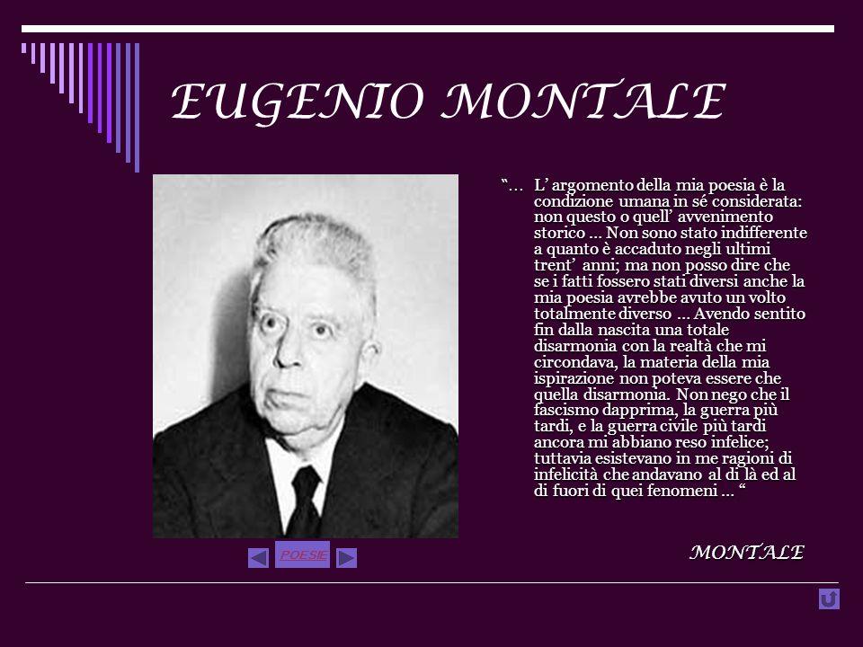 EUGENIO MONTALE MONTALE