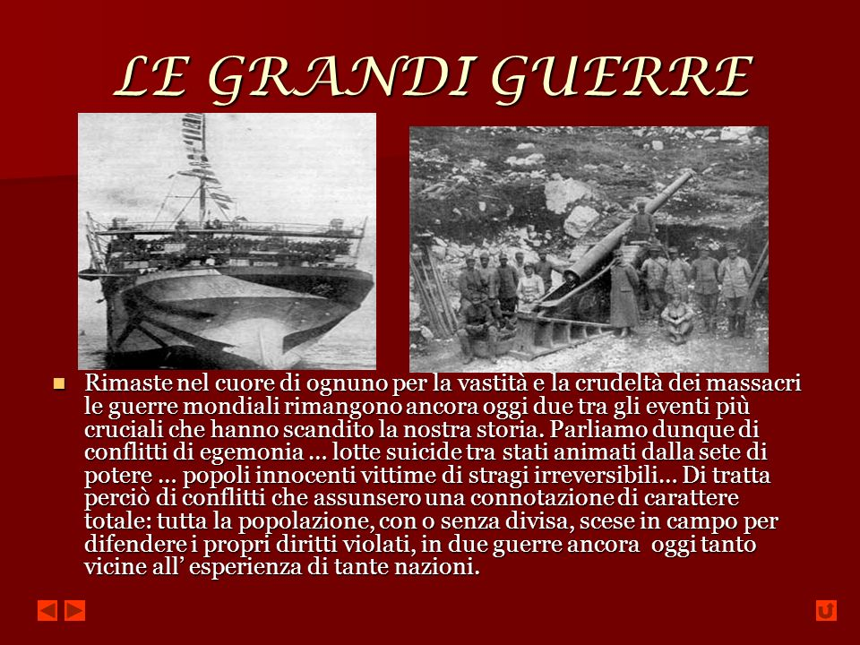LE GRANDI GUERRE