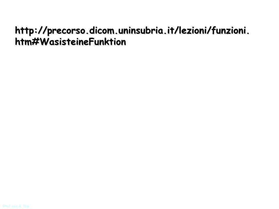 http://precorso. dicom. uninsubria. it/lezioni/funzioni