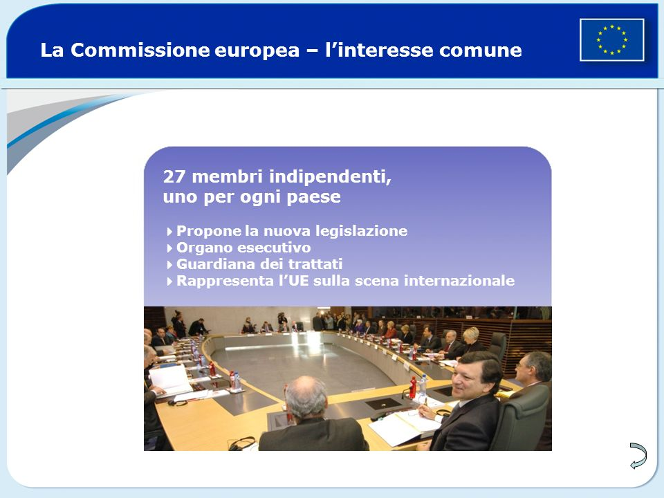 La Commissione europea – l'interesse comune