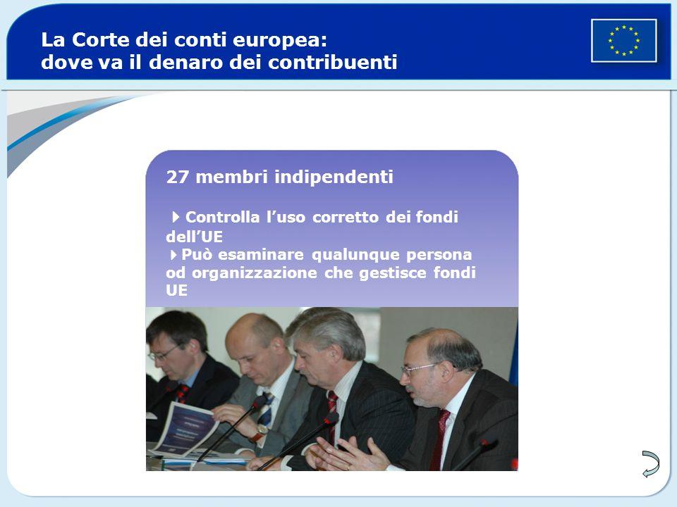 La Corte dei conti europea: dove va il denaro dei contribuenti