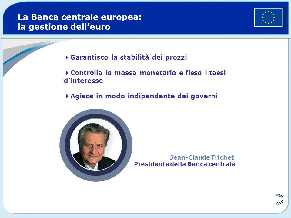 La Banca centrale europea: la gestione dell'euro