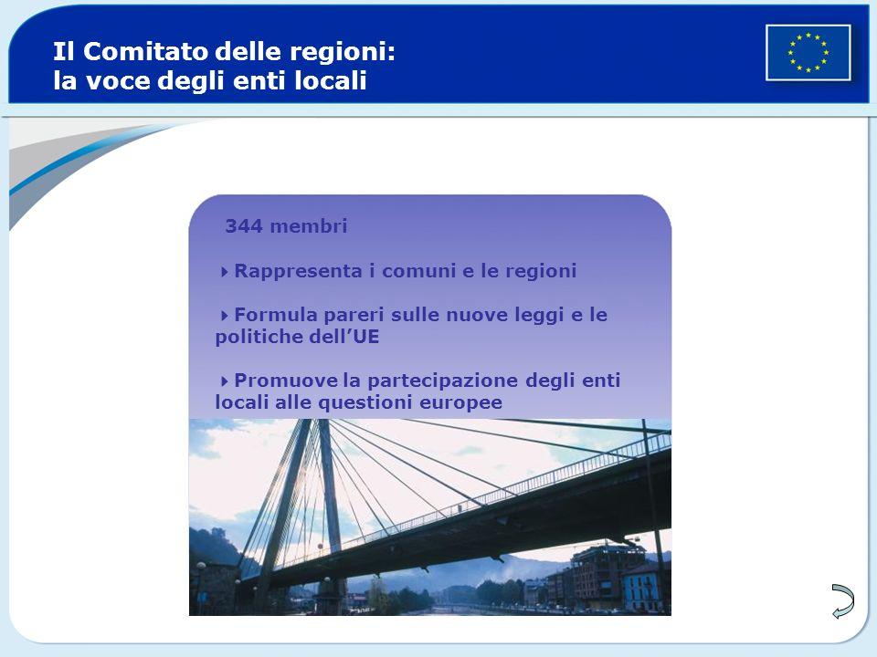 Il Comitato delle regioni: la voce degli enti locali