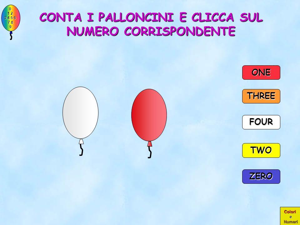CONTA I PALLONCINI E CLICCA SUL NUMERO CORRISPONDENTE