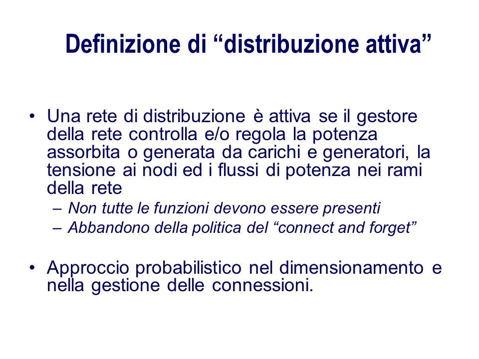 Definizione di distribuzione attiva