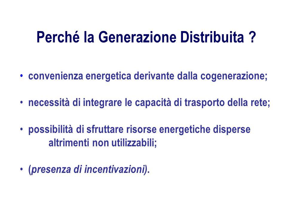 Perché la Generazione Distribuita
