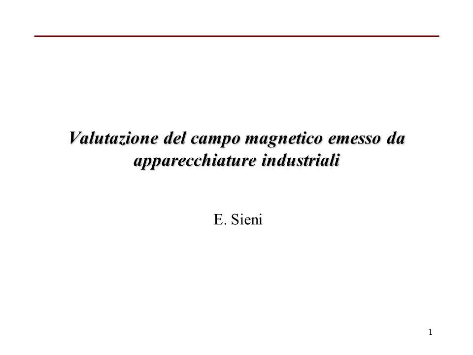 Valutazione del campo magnetico emesso da apparecchiature industriali