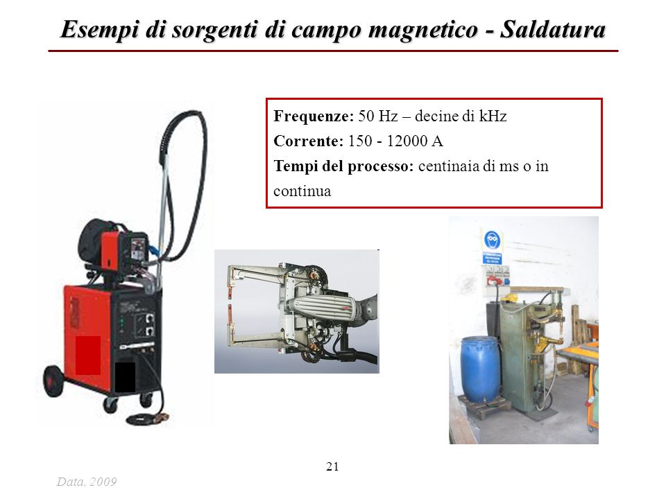 Esempi di sorgenti di campo magnetico - Saldatura